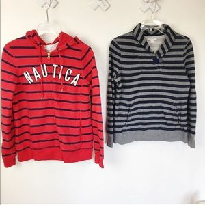 Bundle of 2 Nautica Sweater and Hoodie Size M
